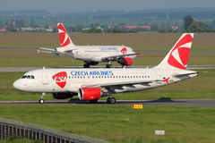 CSA Czech Airlines Airbus A319-112 Stock Photos
