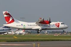 CSA Czech Airlines ATR42-500 Imagem de Stock