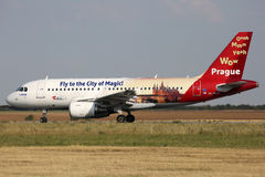CSA - Czech Airlines (Fly to the City of Magic) Royalty Free Stock Photos