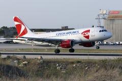 CSA A319 environ à atterrir Image libre de droits