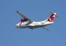 CSA - Linee aeree ceche ATR-42 Immagini Stock Libere da Diritti