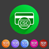 CSC card security code credit  icon flat web sign symbol logo label Stock Photo