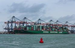 CSCL-jordklotcontainership Arkivfoto