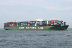 CSCL SATURN inbound Rotterdam Stock Photo