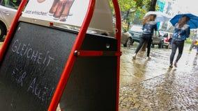 CSD克里斯托弗街天柏林verregnet 免版税图库摄影