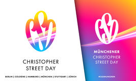 CSD Christopher Street Day symbol emblem for European Gay Pride Stock Photos