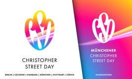 CSD Christopher Street Day symbol emblem for European Gay Pride Stock Photos