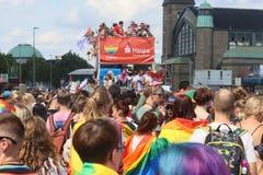 CSD Parade 2018 Hamburg, Germany LGBTIQ Demo stock photo