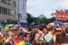 CSD Parade 2018 Hamburg, Germany LGBTIQ Demo royalty free stock photo