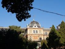 Csernovics城堡- Macea dendrological公园 阿拉德县,罗马尼亚 库存图片