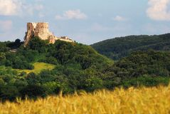 Csesznek Castle in Hungary Stock Images