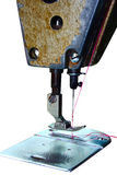 CSewing machine. Sewing machine foot closeup, focus on foot Stock Photos