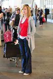 CSI actress Marg Helgenberger at LAX airport. LOS ANGELES-MAY 11: CSI actress Marg Helgenberger at LAX airport. May 11 in Los Angeles, California 2011 Royalty Free Stock Photography