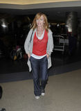 CSI actress Marg Helgenberger at LAX airport Stock Image