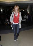 CSI actress Marg Helgenberger at LAX airport. LOS ANGELES-MAY 11: CSI actress Marg Helgenberger at LAX airport. May 11 in Los Angeles, California 2011 Stock Image