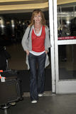 CSI actress Marg Helgenberger at LAX airport Stock Photos