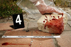 CSI - deadly brick Stock Photo