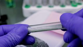 CSI expertise test tube with cristal stock footage