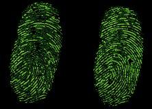 Csi Fingerabdrücke Lizenzfreies Stockfoto