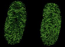 Csi fingerprints stock illustration