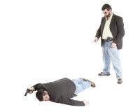 CSI Punkte zur Leiche Stockfoto