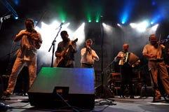 Csik zespół z ich gościami, spełnianiem żywymi, Hobo i Lovasi Andras Obrazy Royalty Free