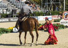 CSIO BARCELONA 2014 - EQUESTRIAN EXHIBITION. CSIO Barcelona, 103rd International Jumping Competition. Furusiyya FEI Nations Cup Royalty Free Stock Photos
