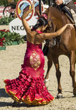 CSIO BARCELONA 2014 - EQUESTRIAN EXHIBITION. CSIO Barcelona, 103rd International Jumping Competition. Furusiyya FEI Nations Cup Royalty Free Stock Photo