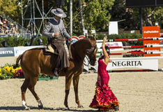 CSIO BARCELONA 2014 - FLAMENCO EQUESTRIAN EXHIBITION Stock Image