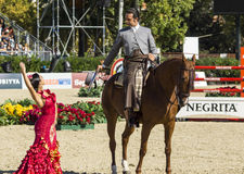 CSIO BARCELONA 2014 - FLAMENCO EQUESTRIAN EXHIBITION Stock Photography
