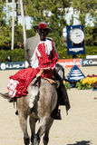 CSIO BARCELONA 2014 - FLAMENCO EQUESTRIAN EXHIBITION. CSIO Barcelona, 103rd International Jumping Competition. Furusiyya FEI Nations Cup Royalty Free Stock Images