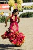 CSIO BARCELONA 2014 - FLAMENCO EXHIBITION Royalty Free Stock Photo