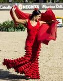 CSIO BARCELONA 2014 - FLAMENCO EXHIBITION Royalty Free Stock Photography