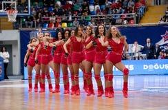 CSKA队的啦啦队员 图库摄影