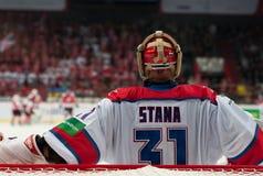 CSKA (莫斯科) Rastislav Stana的守门员 图库摄影