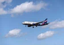 CSKA drużyny futbolowej ` s samolot w niebie Obraz Stock