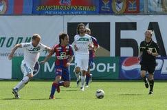 CSKA (Moscow) and FC Terek (Grozny) - (4:1) Royalty Free Stock Image