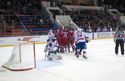 CSKA rejoices the scored goal Stock Photos