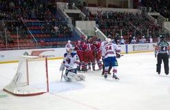 CSKA rejoices the scored goal Stock Photos