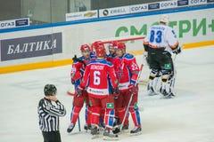 CSKA zdobywający punkty Fotografia Stock