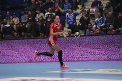 CSM Bucuresti - KVINNA` S EHF för RK Krim Mercator kämpar för ligan Royaltyfri Foto
