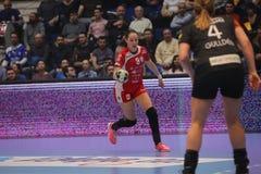 CSM Bucuresti - le ` S EHF de FEMMES de RK Krim Mercator soutient la ligue Photo stock