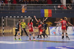 CSM Bucuresti - RK Krim Mercator kobiet ` S EHF champions league Obrazy Stock