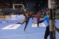 CSM Bucuresti - RK Krim Mercator WOMEN`S EHF Champions League. BUCHAREST, ROMANIA - MARCH 03, 2017: WOMEN`S EHF Champions League 2016-17, CSM Bucuresti vs RK Stock Photography