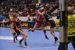 CSM Bucuresti - RK Krim Mercator WOMEN`S EHF Champions League. BUCHAREST, ROMANIA - MARCH 03, 2017: WOMEN`S EHF Champions League 2016-17, CSM Bucuresti vs RK Stock Photo