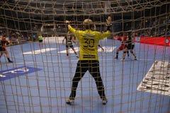 CSM Bucuresti - RK Krim Mercator WOMEN`S EHF Champions League. BUCHAREST, ROMANIA - MARCH 03, 2017: WOMEN`S EHF Champions League 2016-17, CSM Bucuresti vs RK Royalty Free Stock Photo