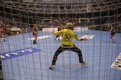 CSM Bucuresti - RK Krim Mercator WOMEN`S EHF Champions League. BUCHAREST, ROMANIA - MARCH 03, 2017: WOMEN`S EHF Champions League 2016-17, CSM Bucuresti vs RK Stock Photos