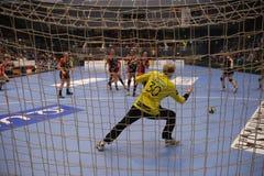 CSM Bucuresti - RK Krim Mercator WOMEN`S EHF Champions League. BUCHAREST, ROMANIA - MARCH 03, 2017: WOMEN`S EHF Champions League 2016-17, CSM Bucuresti vs RK Royalty Free Stock Image