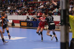CSM Bucuresti - ` S EHF FRAUEN RK Krim Mercator verficht Liga Stockfotografie