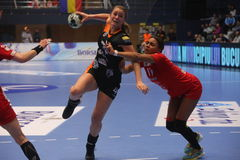 CSM Bucuresti - ` S EHF FRAUEN RK Krim Mercator verficht Liga Stockbild